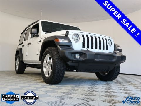 CERTIFIED PRE-OWNED 2018 JEEP WRANGLER UNLIMITED SPORT 4WD