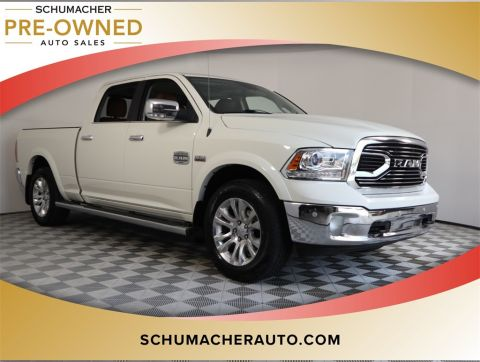 PRE-OWNED 2017 RAM 1500 LARAMIE LONGHORN WITH NAVIGATION & 4WD